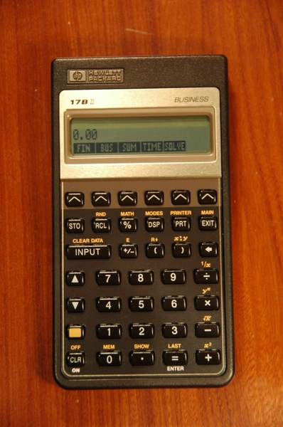 hp 17bii original used thecalculatorstore hp 17bii+ financial calculator user manual HP 17Bii Printer
