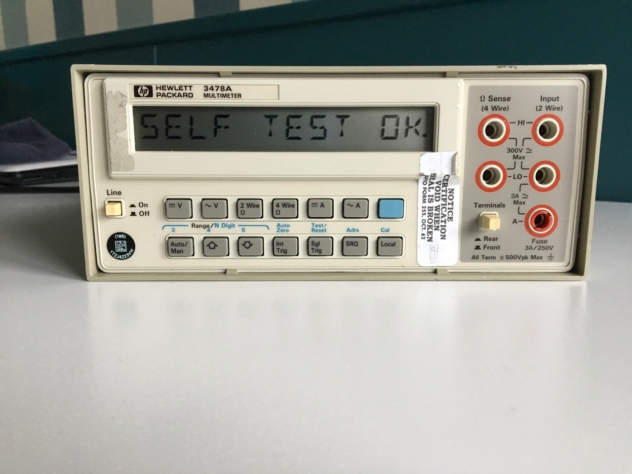 Hp 3478a Multimeter Used Thecalculatorstore
