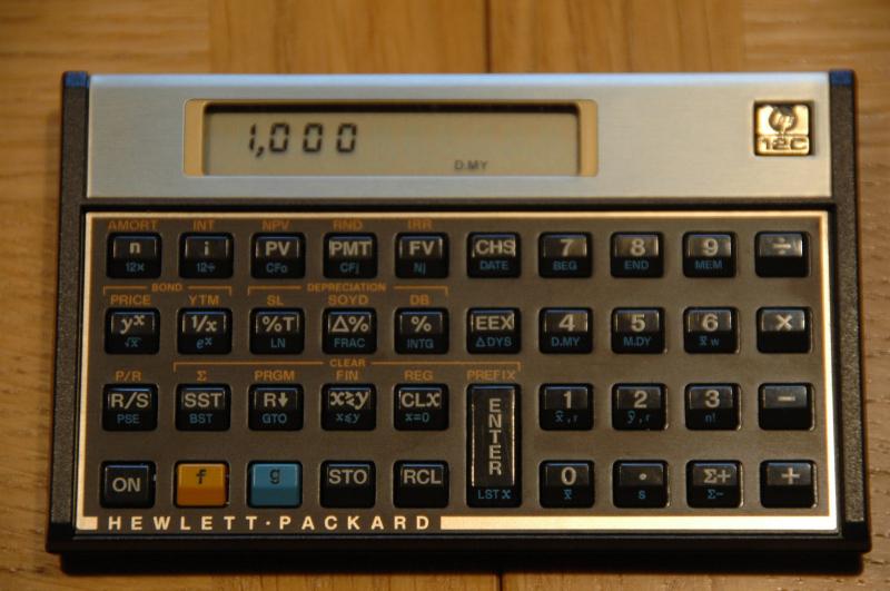 used hp12c thecalculatorstore rh thecalculatorstore com HP 12C Calculator HP 12C Manual Decimal Point