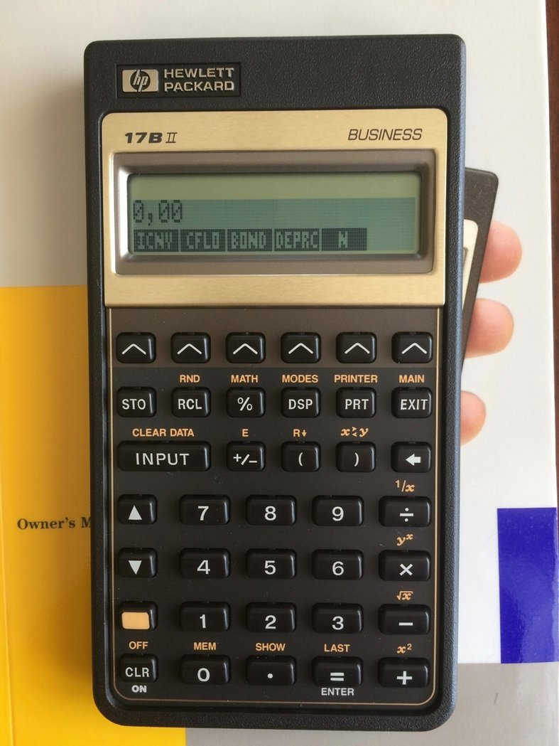 hp 17bii original in box used thecalculatorstore rh thecalculatorstore com Hewlett-Packard 17Bii Financial Calculator Batteries for HP 17Bii Calculator