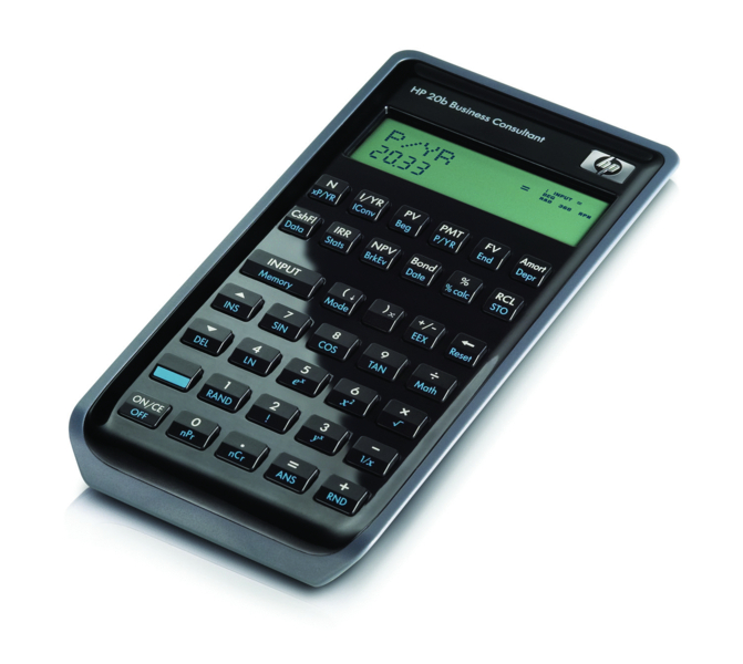 hp 20b financial calculator