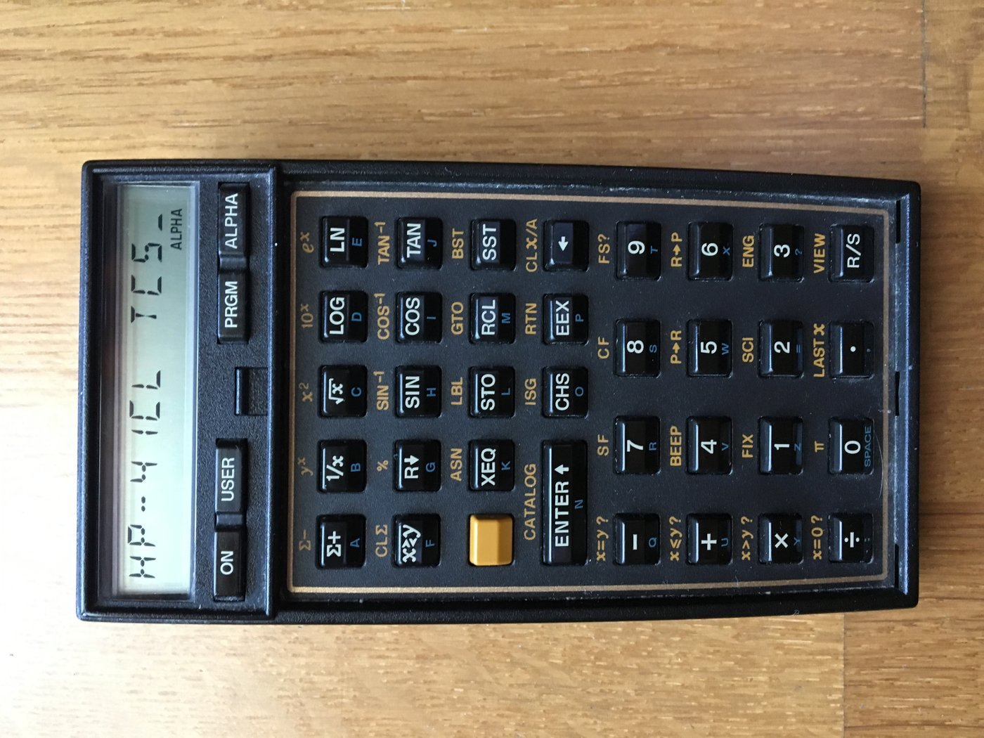 hp 41c scientific calculator - con caja - usada