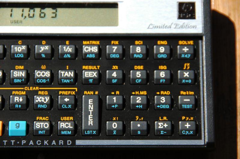 Hp-15c scientific calculator, hp 15c with original case passed.