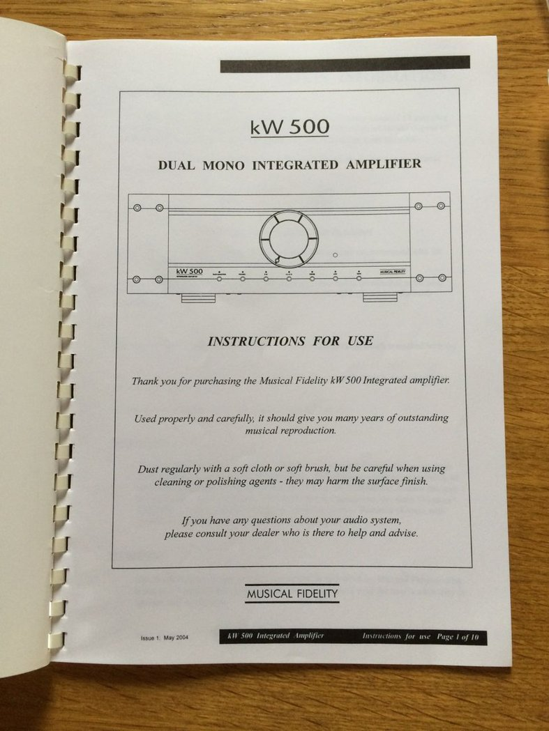 Musical Fidelity Kw500 Thecalculatorstore Wiring Instructions