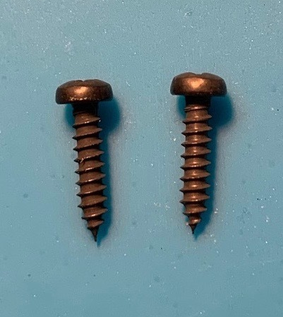 lower post long screw - black pair